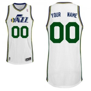 Maillot NBA Authentic Personnalisé Utah Jazz Home Blanc - Enfants