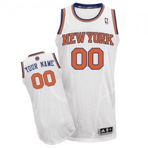 Maillot NBA New York Knicks Personnalisé Authentic Blanc Adidas Home - Enfants