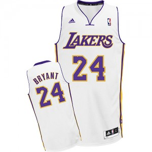Maillot NBA Swingman Kobe Bryant #24 Los Angeles Lakers Alternate Blanc - Enfants