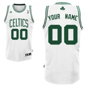 Maillot NBA Blanc Swingman Personnalisé Boston Celtics Home Homme Adidas