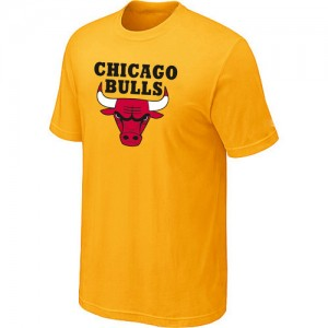 Tee-Shirt NBA Jaune Chicago Bulls Big & Tall Homme
