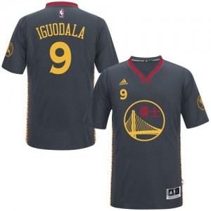 Maillot NBA Authentic Andre Iguodala #9 Golden State Warriors Slate Chinese New Year Noir - Homme