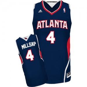 Atlanta Hawks #4 Adidas Road Bleu marin Swingman Maillot d'équipe de NBA en ligne - Paul Millsap pour Homme