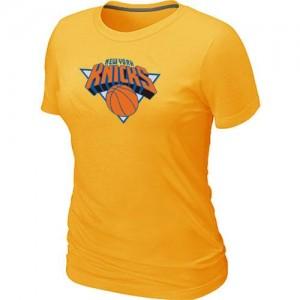 New York Knicks Big & Tall Tee-Shirt d'équipe de NBA - Jaune pour Femme