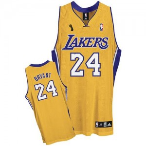 Maillot NBA Swingman Kobe Bryant #24 Los Angeles Lakers Home Champions Patch Or - Enfants