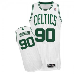 Maillot NBA Authentic Amir Johnson #90 Boston Celtics Home Blanc - Homme