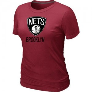 T-shirt principal de logo Brooklyn Nets NBA Big & Tall Rouge - Femme