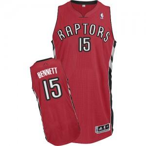 Toronto Raptors #15 Adidas Road Rouge Authentic Maillot d'équipe de NBA 100% authentique - Anthony Bennett pour Homme