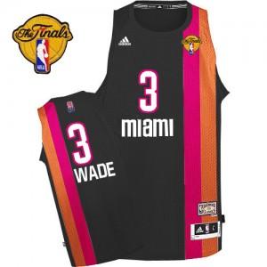 Miami Heat #3 Adidas ABA Hardwood Classic Finals Patch Noir Swingman Maillot d'équipe de NBA achats en ligne - Dwyane Wade pour Homme