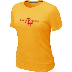 Houston Rockets Big & Tall Jaune Tee-Shirt d'équipe de NBA magasin d'usine - pour Femme