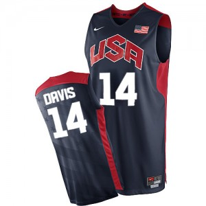 Maillot Nike Bleu marin 2012 Olympics Authentic Team USA - Anthony Davis #14 - Homme