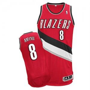 Portland Trail Blazers Al-Farouq Aminu #8 Alternate Authentic Maillot d'équipe de NBA - Rouge pour Homme