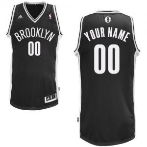 Brooklyn Nets Swingman Personnalisé Road Maillot d'équipe de NBA - Noir pour Homme