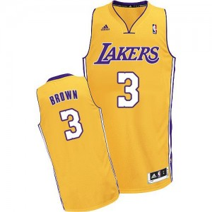 Maillot NBA Swingman Anthony Brown #3 Los Angeles Lakers Home Or - Homme