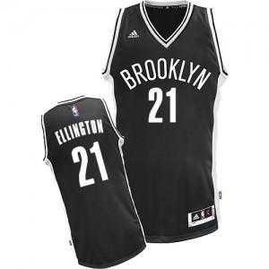 Brooklyn Nets Wayne Ellington #21 Road Swingman Maillot d'équipe de NBA - Noir pour Homme