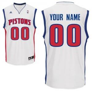 Maillot Adidas Blanc Home Detroit Pistons - Swingman Personnalisé - Homme