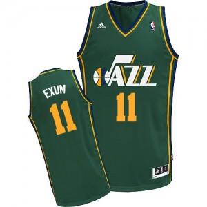 Maillot NBA Vert Dante Exum #11 Utah Jazz Alternate Swingman Homme Adidas