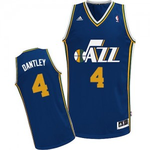 Maillot NBA Bleu marin Adrian Dantley #4 Utah Jazz Road Swingman Homme Adidas