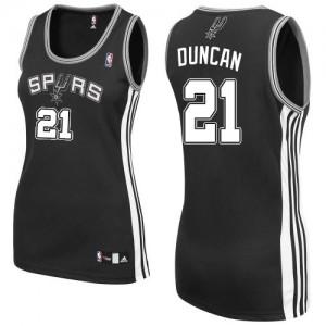 Maillot NBA Authentic Tim Duncan #21 San Antonio Spurs Road Noir - Femme