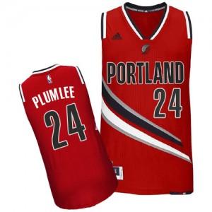 Maillot Adidas Rouge Alternate Swingman Portland Trail Blazers - Mason Plumlee #24 - Homme
