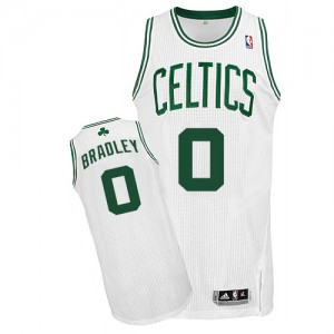 Maillot NBA Boston Celtics #0 Avery Bradley Blanc Adidas Authentic Home - Homme
