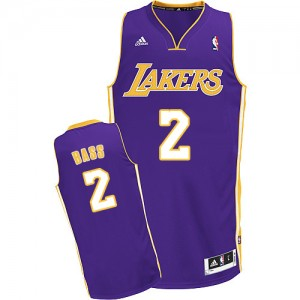 Maillot NBA Swingman Brandon Bass #2 Los Angeles Lakers Road Violet - Homme