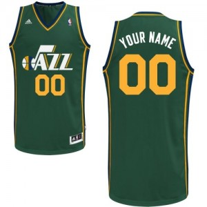 Utah Jazz Personnalisé Adidas Alternate Vert Maillot d'équipe de NBA en vente en ligne - Swingman pour Homme