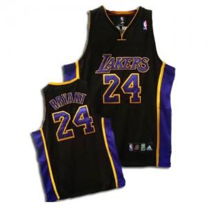 Maillot Authentic Los Angeles Lakers NBA Noir / Violet - #24 Kobe Bryant - Enfants