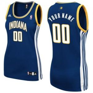 Maillot NBA Indiana Pacers Personnalisé Swingman Bleu marin Adidas Road - Femme
