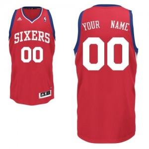 Philadelphia 76ers Personnalisé Adidas Road Rouge Maillot d'équipe de NBA préférentiel - Swingman pour Homme