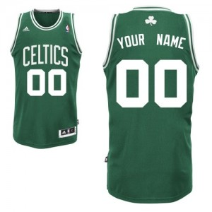 Maillot NBA Swingman Personnalisé Boston Celtics Road Vert (No Blanc) - Enfants