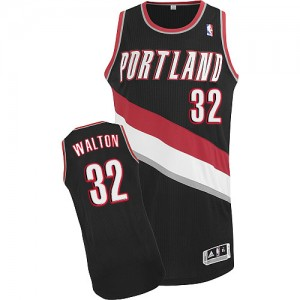 Maillot NBA Authentic Bill Walton #32 Portland Trail Blazers Road Noir - Homme