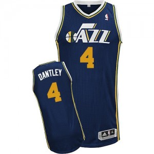 Maillot NBA Authentic Adrian Dantley #4 Utah Jazz Road Bleu marin - Homme