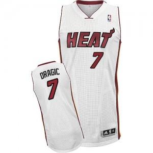 Maillot NBA Blanc Goran Dragic #7 Miami Heat Home Authentic Homme Adidas