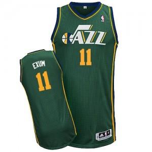 Utah Jazz #11 Adidas Alternate Vert Authentic Maillot d'équipe de NBA boutique en ligne - Dante Exum pour Homme
