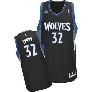 Maillot Adidas Noir Alternate Swingman Minnesota Timberwolves - Karl-Anthony Towns #32 - Homme