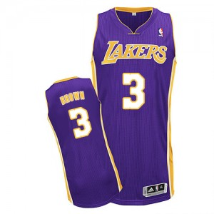 Maillot Adidas Violet Road Authentic Los Angeles Lakers - Anthony Brown #3 - Homme
