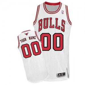 Chicago Bulls Personnalisé Adidas Home Blanc Maillot d'équipe de NBA Le meilleur cadeau - Authentic pour Homme