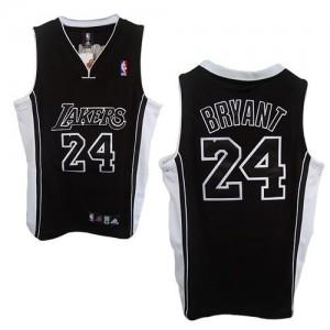 Los Angeles Lakers Kobe Bryant #24 Shadow Swingman Maillot d'équipe de NBA - Noir pour Enfants