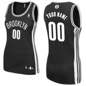Maillot Brooklyn Nets NBA Road Noir - Personnalisé Authentic - Femme