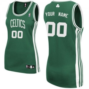 Maillot Adidas Vert (No Blanc) Road Boston Celtics - Authentic Personnalisé - Femme