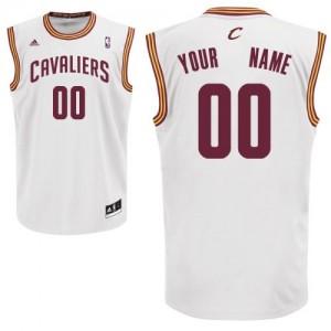 Maillot NBA Blanc Swingman Personnalisé Cleveland Cavaliers Home Enfants Adidas