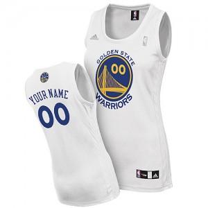 Golden State Warriors Swingman Personnalisé Home Maillot d'équipe de NBA - Blanc pour Femme