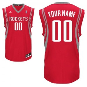 Maillot NBA Rouge Swingman Personnalisé Houston Rockets Road Homme Adidas