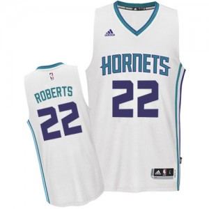 Maillot NBA Blanc Brian Roberts #22 Charlotte Hornets Home Authentic Homme Adidas