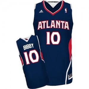 Atlanta Hawks Mike Bibby #10 Road Swingman Maillot d'équipe de NBA - Bleu marin pour Homme