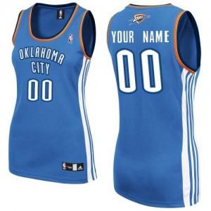 Oklahoma City Thunder Authentic Personnalisé Road Maillot d'équipe de NBA - Bleu royal pour Femme