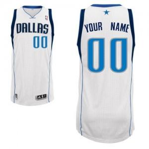 Dallas Mavericks Personnalisé Adidas Home Blanc Maillot d'équipe de NBA Expédition rapide - Authentic pour Homme