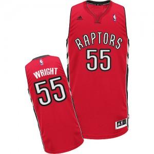 Maillot NBA Toronto Raptors #55 Delon Wright Rouge Adidas Swingman Road - Homme