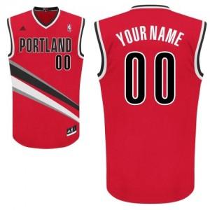Maillot Adidas Rouge Alternate Portland Trail Blazers - Swingman Personnalisé - Homme
